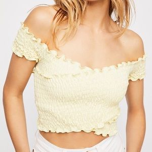 NWT Free People Smock It To Me Crop